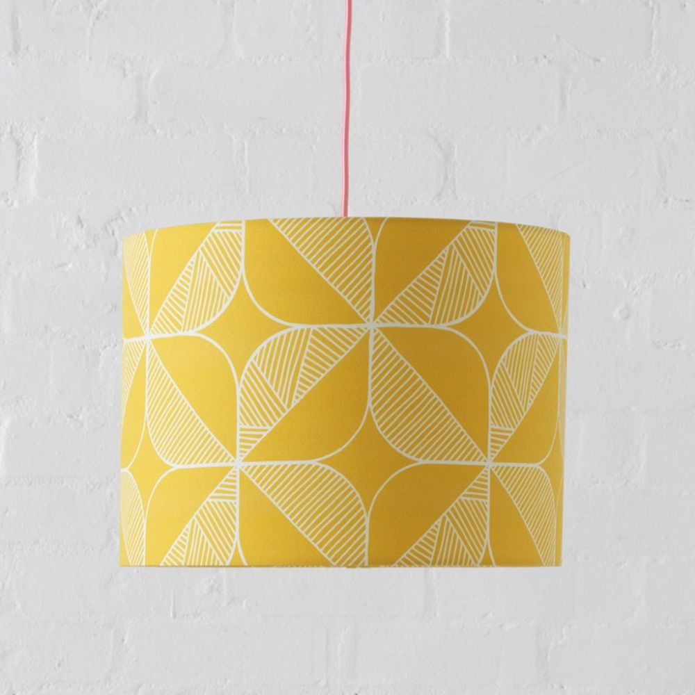 Rosette Lampshade (Yellow) by Sian Elin