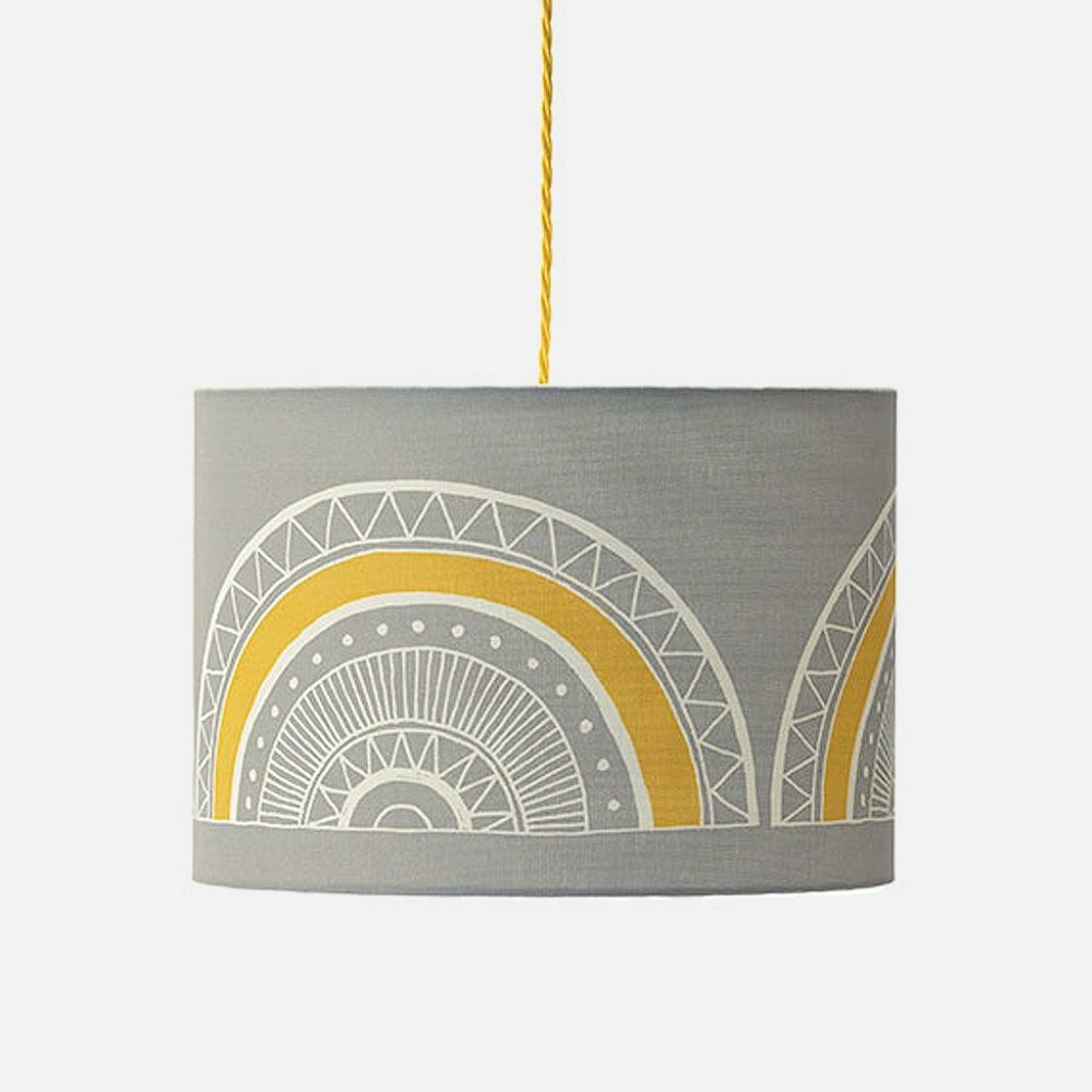 Small (25Ø x 20cm),Sian Elin ,Pendant Lights,ceiling,ceiling fixture,circle,lighting,yellow
