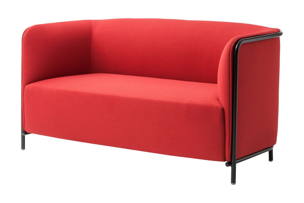 Simil Leather Aurea 1, Black Painted Metal,Gaber,Breakout Sofas,chair,club chair,couch,furniture,loveseat,outdoor sofa,red,slipcover