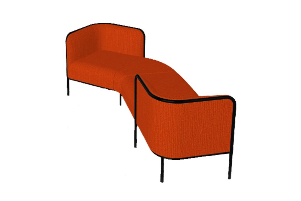 Simil Leather Aurea 1, Black Painted Metal,Gaber,Breakout Sofas,chair,chaise,furniture,line,orange,outdoor furniture