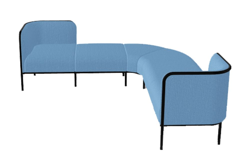 Simil Leather Aurea 1, Black Painted Metal,Gaber,Breakout Sofas,blue,chair,design,furniture,line,product