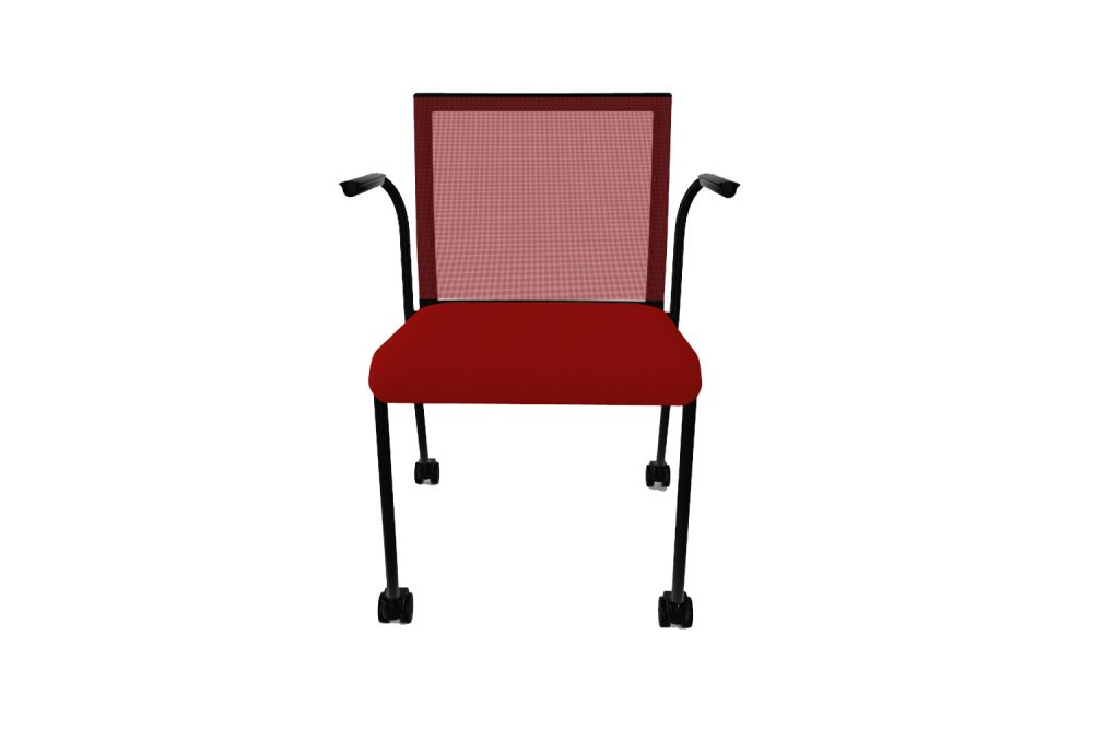 King L Fabric 1010, Mesh R01, Black Painted Metal,Gaber,Conference Chairs,chair,furniture,line,outdoor furniture