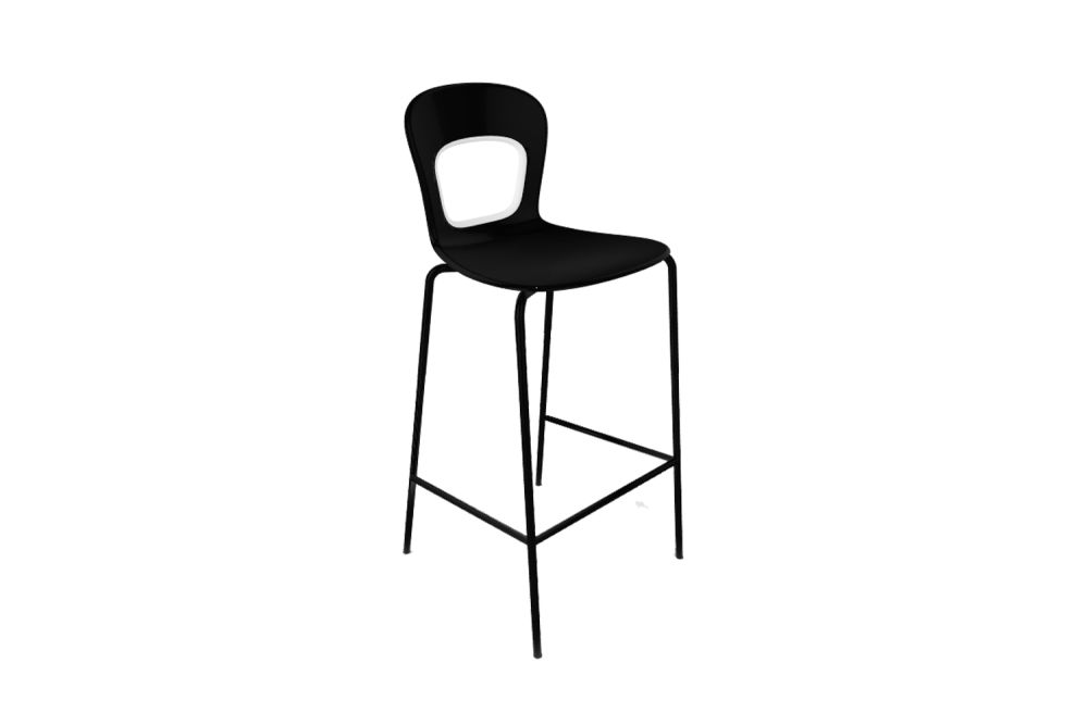 00 White, Chromed Metal,Gaber,Workplace Stools,bar stool,chair,furniture,line