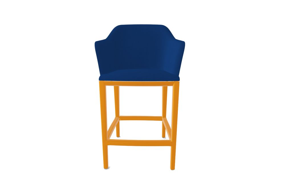 King Fabric 4021, 10 Nero,Gaber,Stools,bar stool,chair,cobalt blue,electric blue,furniture,orange,turquoise