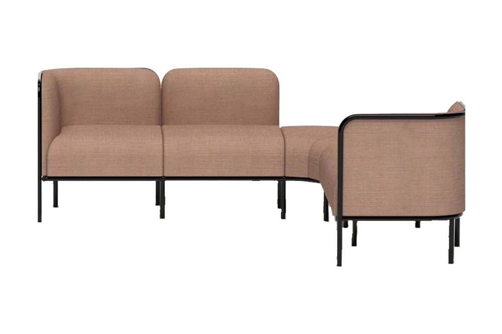Simil Leather Aurea 1, Black Painted Metal,Gaber,Breakout Sofas,armrest,brown,chair,furniture,outdoor sofa