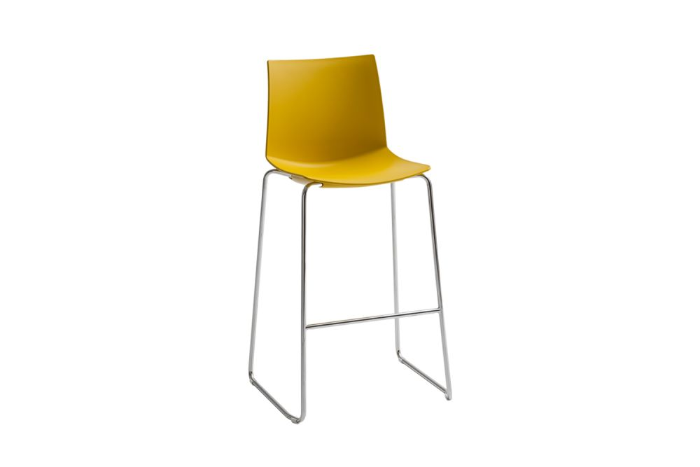 00 White, Chromed Metal,Gaber,Stools,chair,furniture,yellow