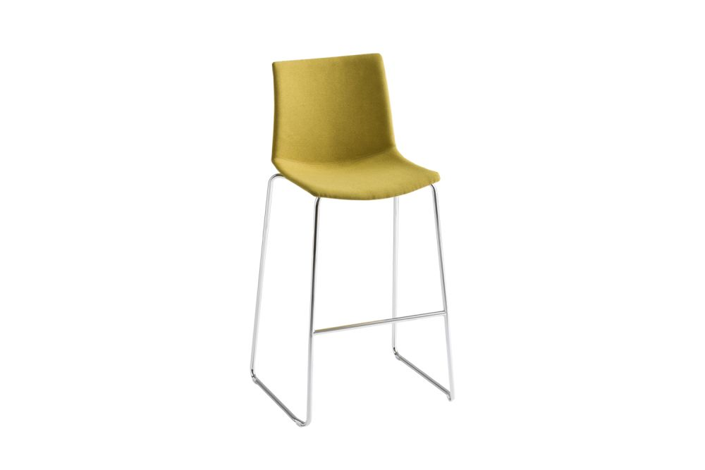 00 White, Simil Leather Aurea 1, Chromed Metal,Gaber,Stools,chair,furniture,yellow