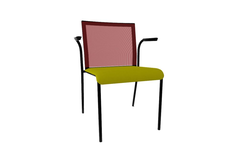 King L Fabric 1010, Mesh R01, Black Painted Metal,Gaber,Breakout & Cafe Chairs,chair,furniture,line