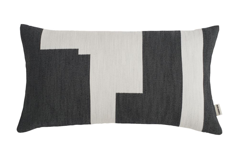 Black,New Works,Cushions,bedding,beige,black,brown,cushion,furniture,linens,pillow,product,rectangle,textile,throw pillow