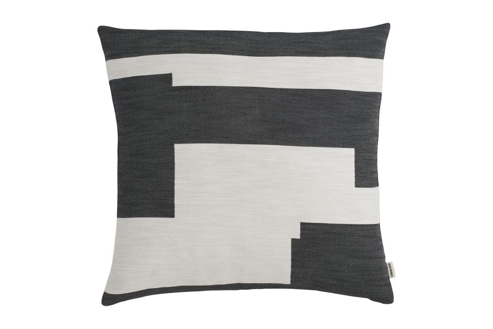 Marine Blue, Large,New Works,Cushions,beige,black,cushion,furniture,grey,linens,pillow,rectangle,throw pillow