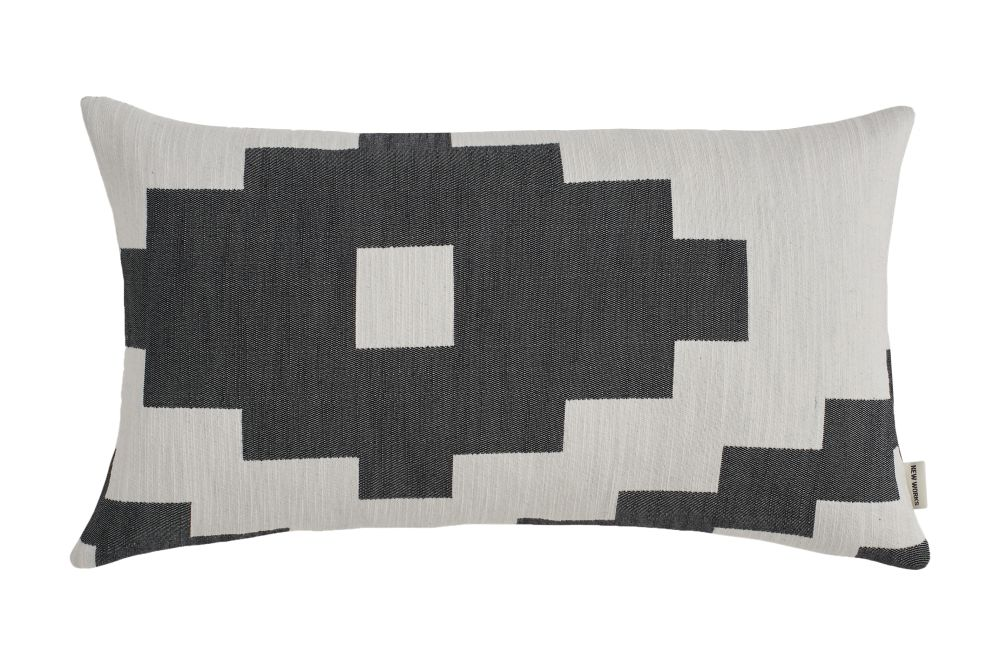 Black,New Works,Cushions,beige,brown,cushion,design,font,furniture,linens,patchwork,pattern,pillow,rectangle,textile,throw pillow