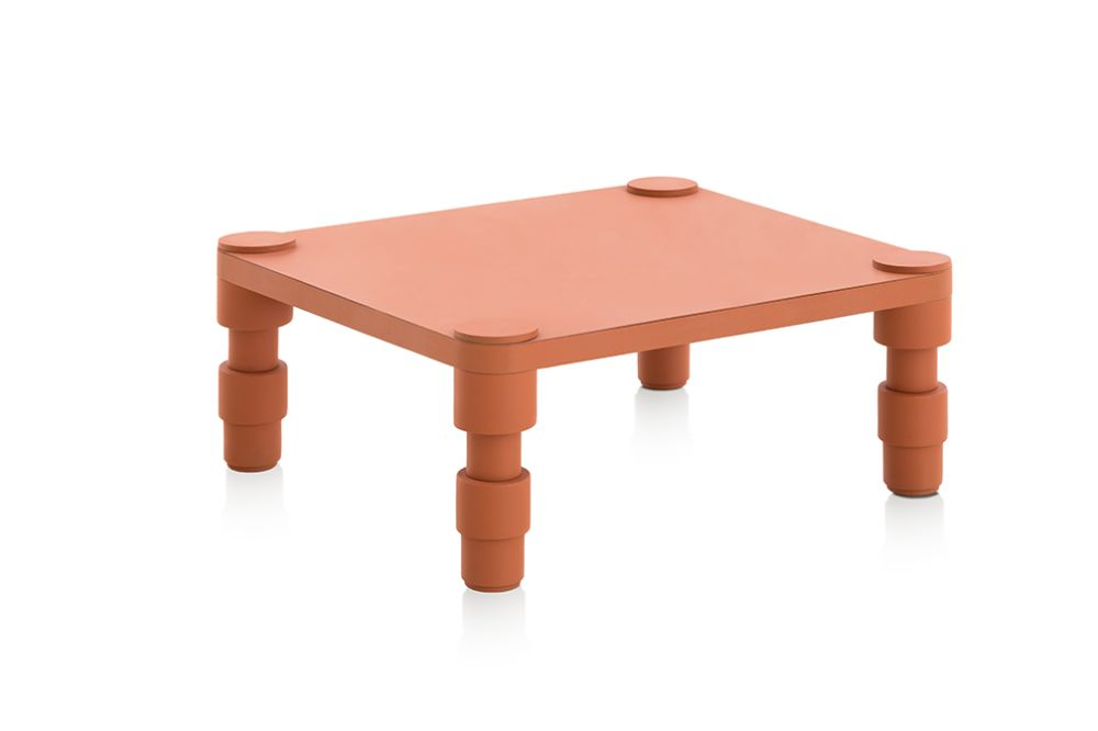 Small, Terracotta,GAN,Coffee & Side Tables,coffee table,furniture,stool,table