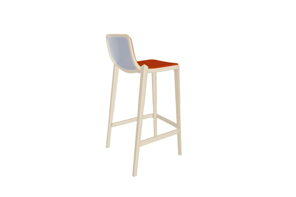 00 White, 00 White, Simil Leather Aurea 1,Gaber,Stools,bar stool,chair,furniture,orange,stool