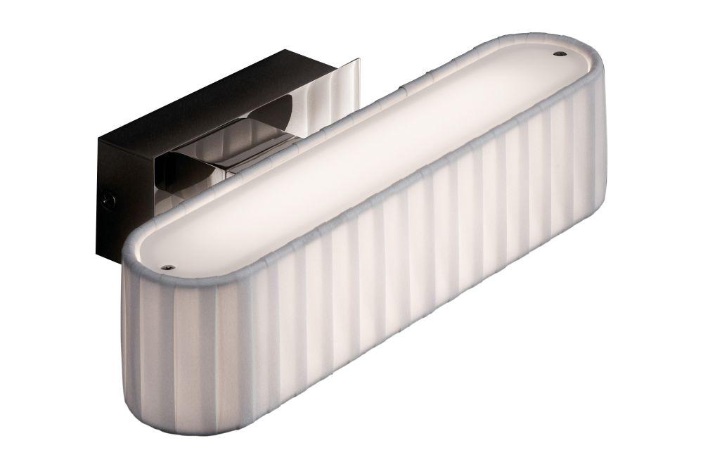 Satin Nickel, White Translucent Ribbon,BOVER,Wall Lights,aluminium
