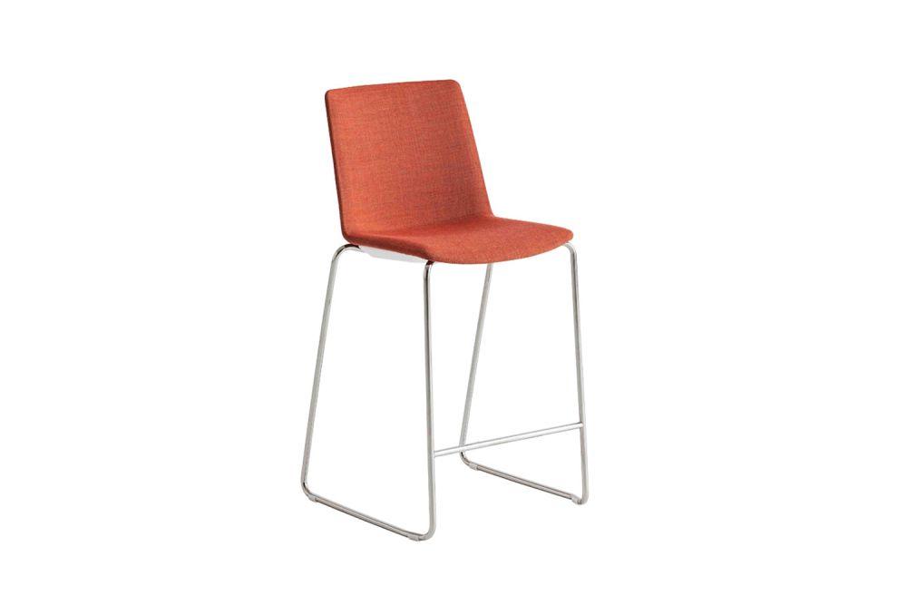 Chromed Metal, Simil Leather Aurea 1,Gaber,Stools,chair,furniture,orange