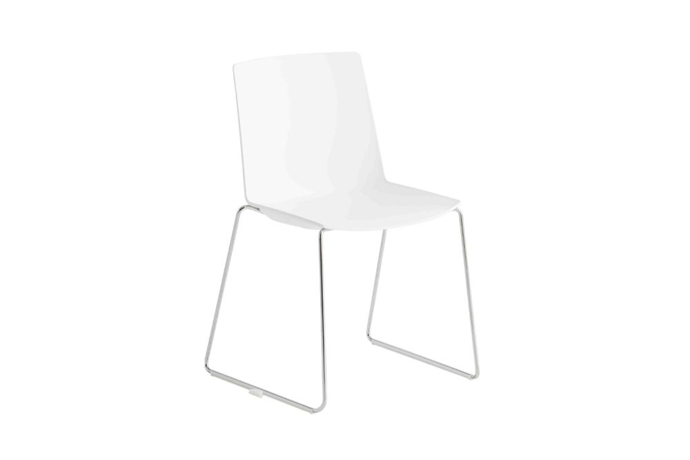 Chromed Metal, 00 White,Gaber,Breakout & Cafe Chairs,chair,furniture,white
