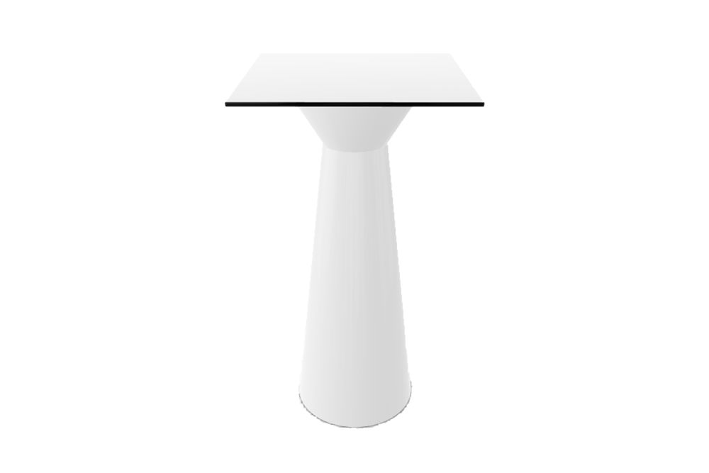 Roller LED Square High Table by Gaber