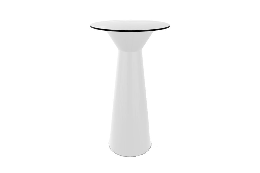 Roller LED Round High Table by Gaber