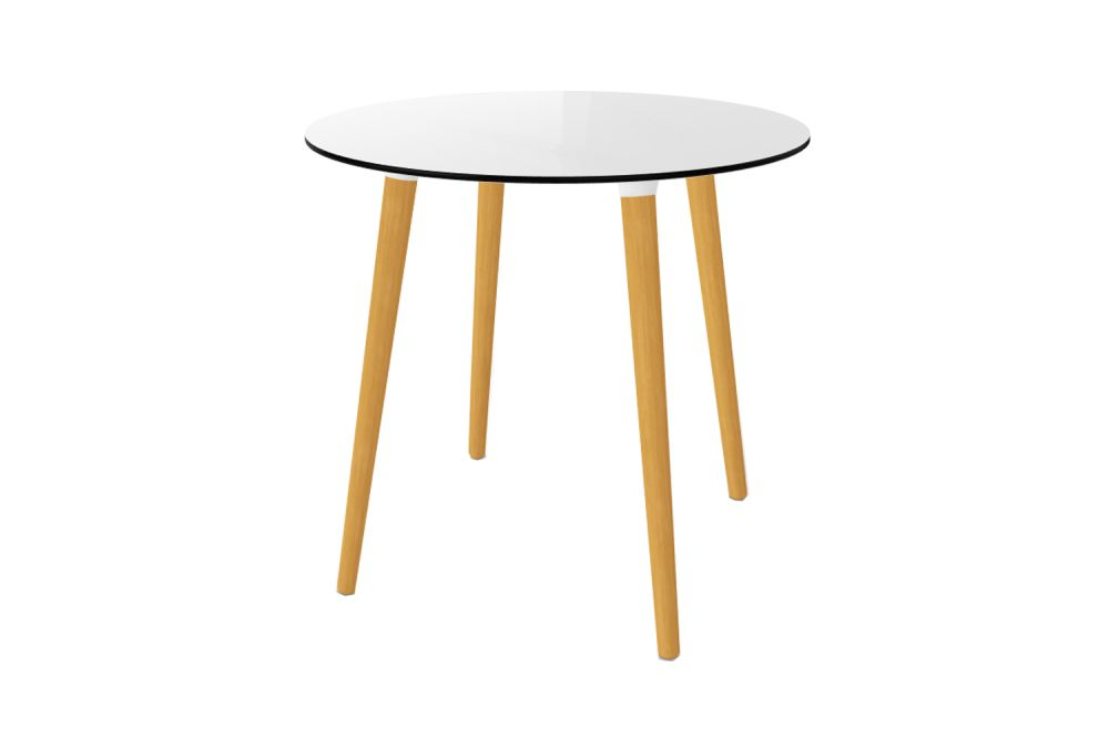 00 White Compact, 80 x 75,Gaber,Cafe Tables,coffee table,end table,furniture,outdoor table,table