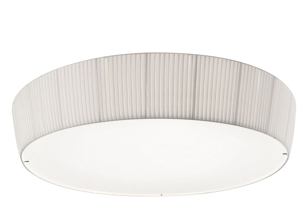Chrome - White Translucent Ribbon, 43cm,BOVER,Ceiling Lights,ceiling,ceiling fixture,lampshade,light fixture,lighting,lighting accessory