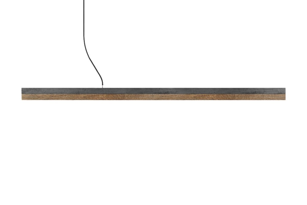 Light grey concrete - cold white (4000K), [C3] - 182cm,GANTlights,Pendant Lights,ceiling,light fixture,lighting,wood
