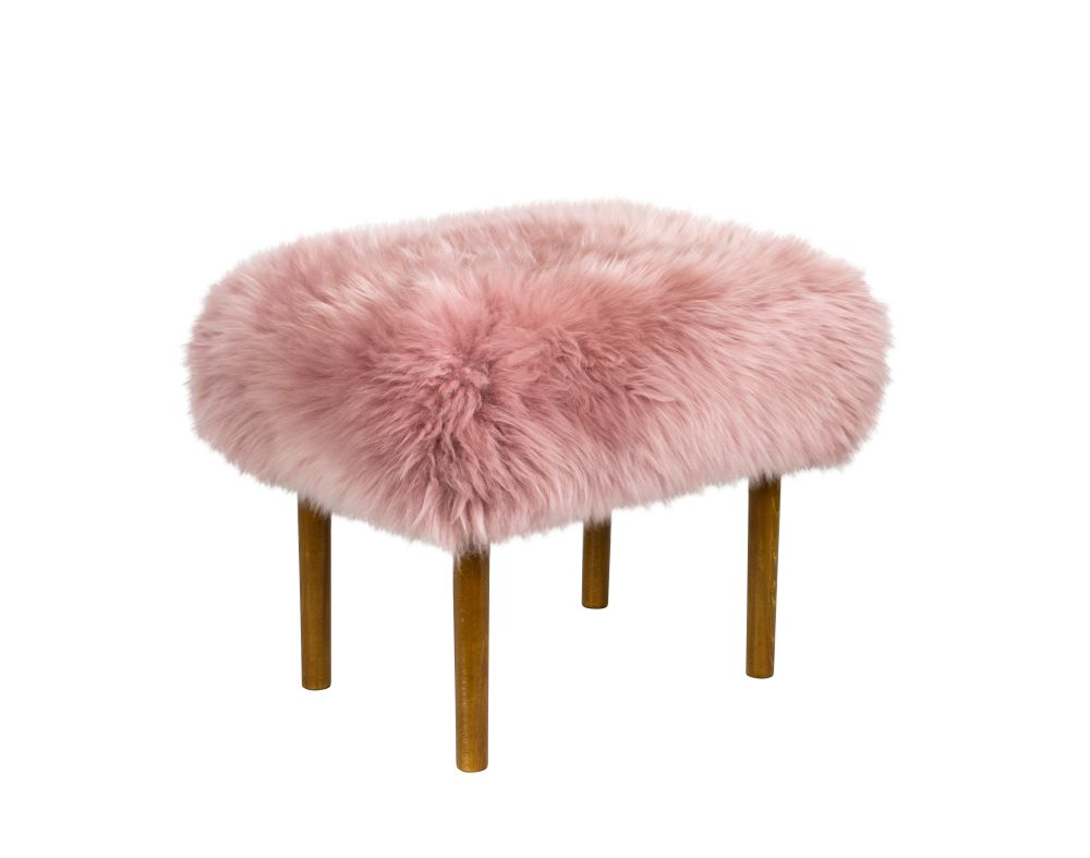 Teal,Baa Stool,Footstools,chair,fur,furniture,pink,stool