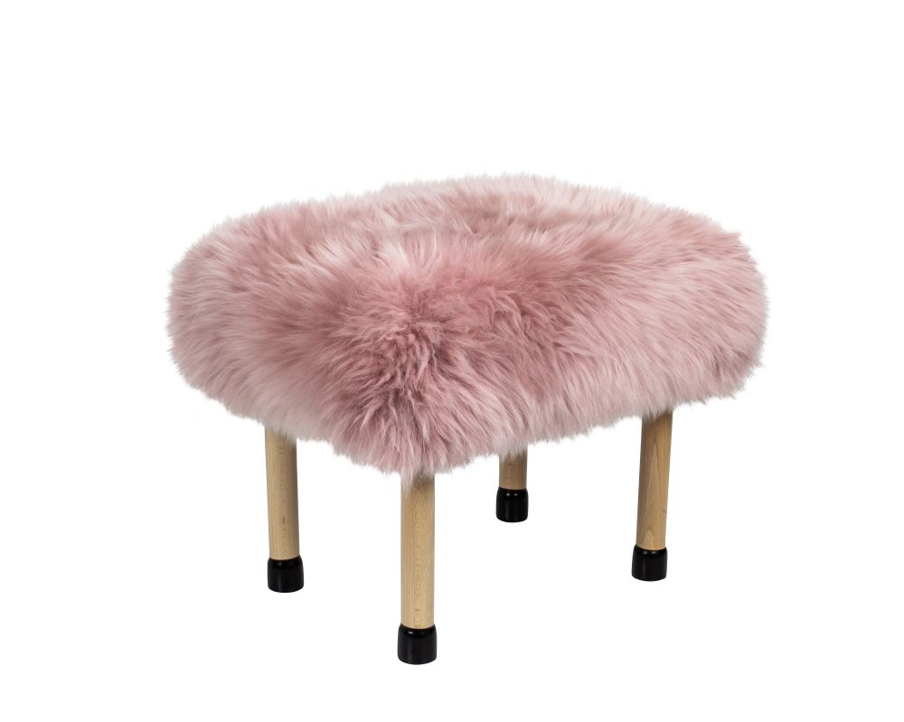 Silver,Baa Stool,Footstools,fur,furniture,pink,stool