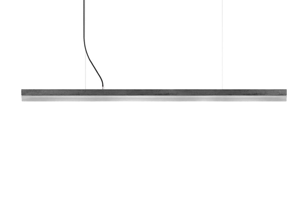 [C] Concrete & Stainless Steel Pendant Light by GANTlights