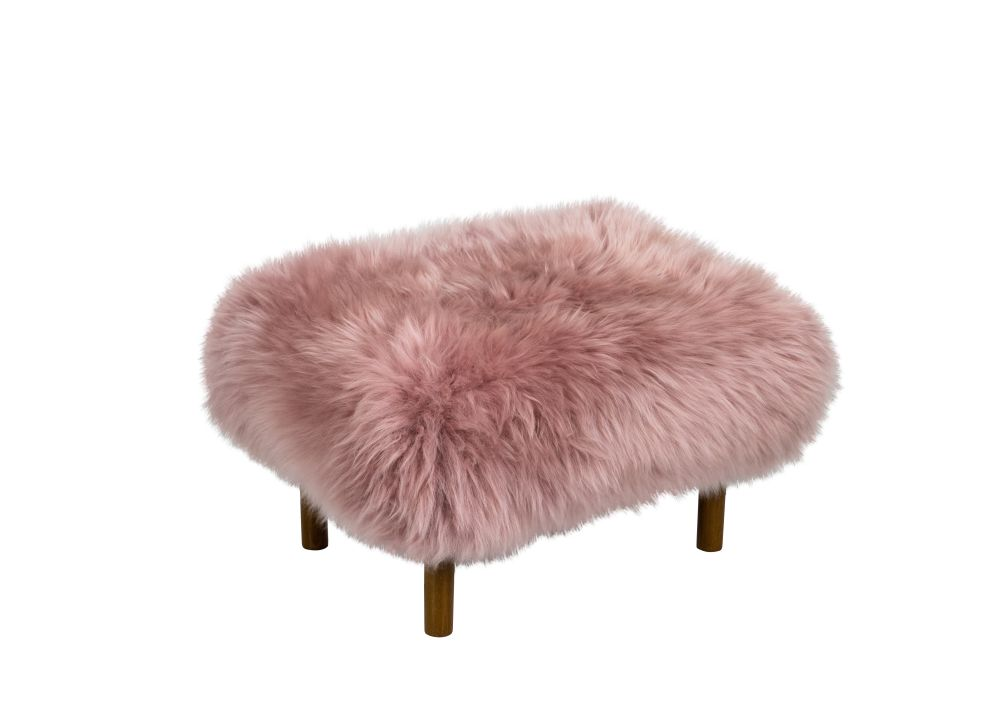 Slate Grey,Baa Stool,Footstools,beige,fur,furniture,ottoman,pink,stool