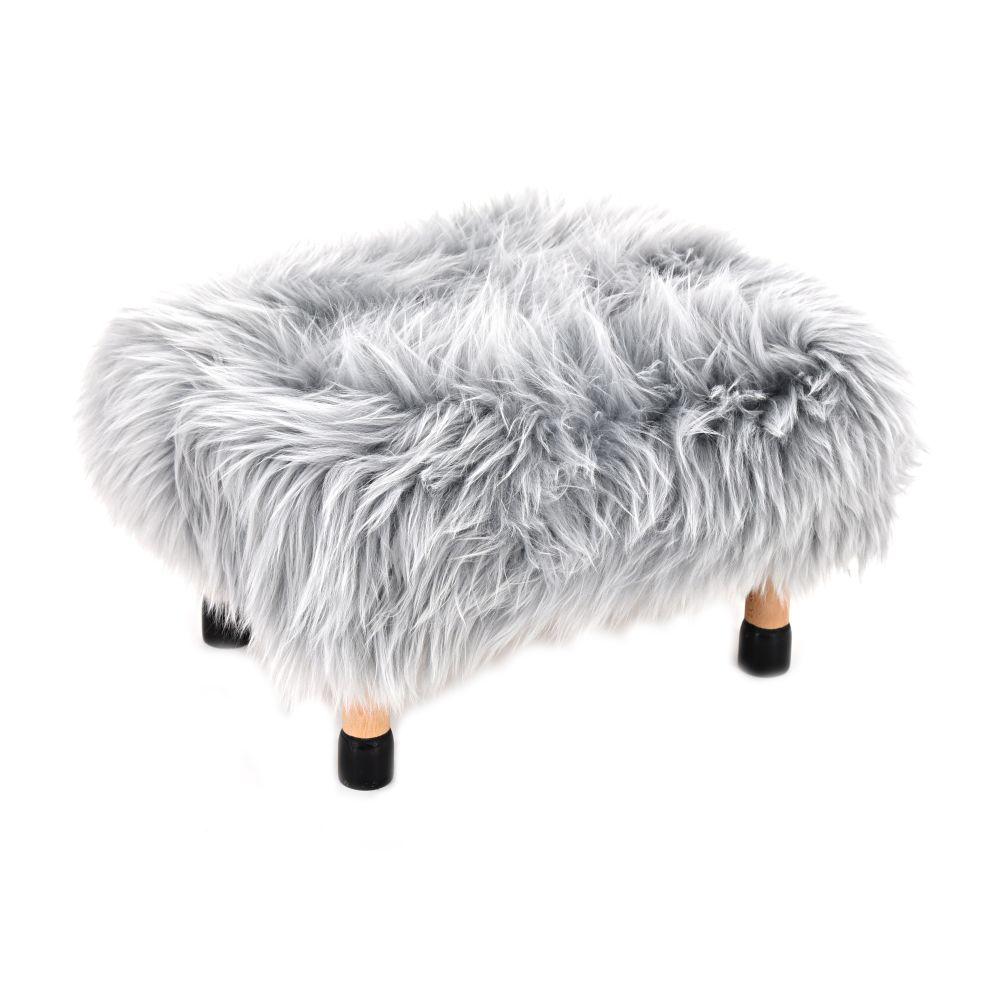 Aubergine,Baa Stool,Footstools,fur,furniture