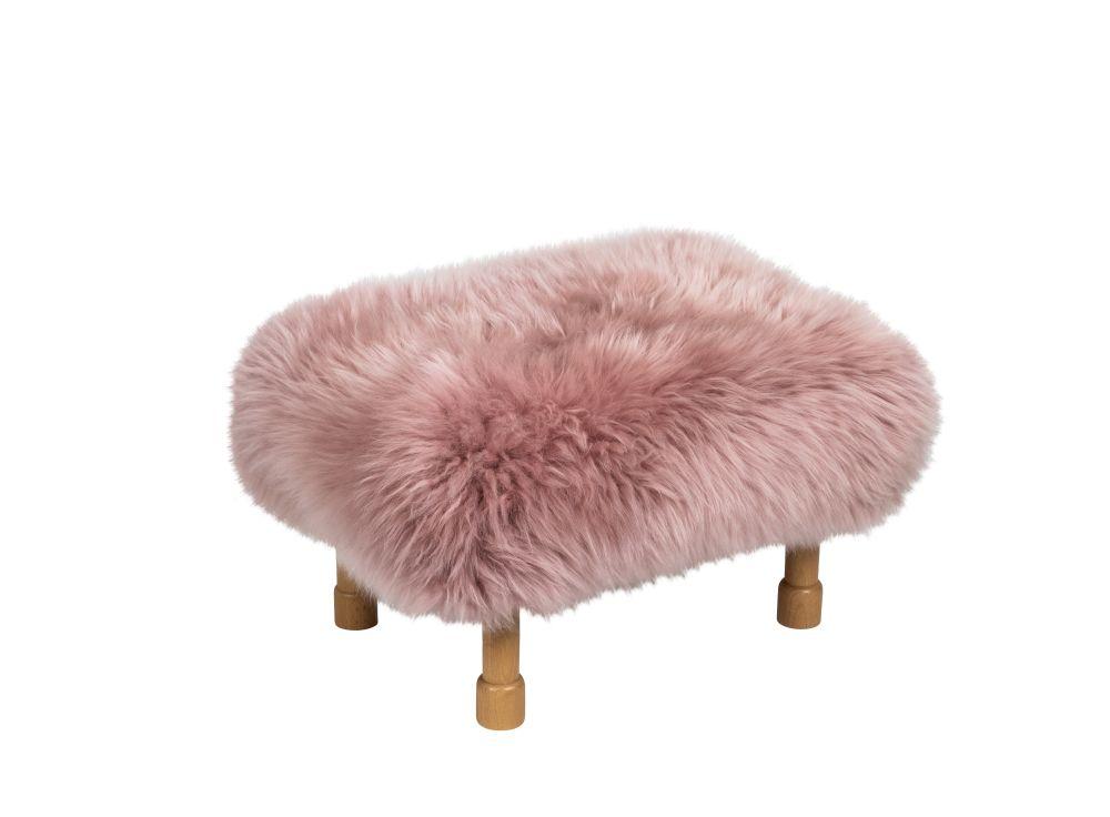 Slate Grey,Baa Stool,Footstools,fur,furniture,pink,stool