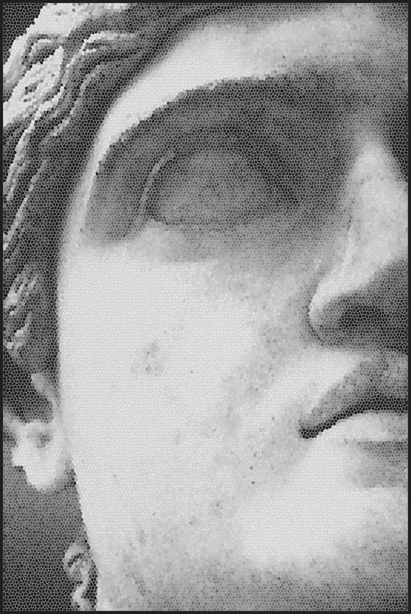 Mosaic Statue 1,Mineheart,Rugs,art,black-and-white,cheek,chin,close-up,drawing,ear,eye,eyebrow,face,forehead,hair,head,human,jaw,lip,monochrome,monochrome photography,mouth,neck,nose,organ,photograph,photography,portrait,skin,white