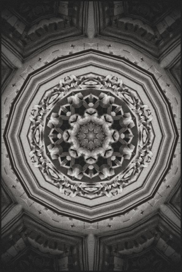 Kaleido Classico Rug,Mineheart,Rugs,architecture,black,black-and-white,ceiling,holy places,monochrome,monochrome photography,pattern,stock photography,stone carving,symmetry
