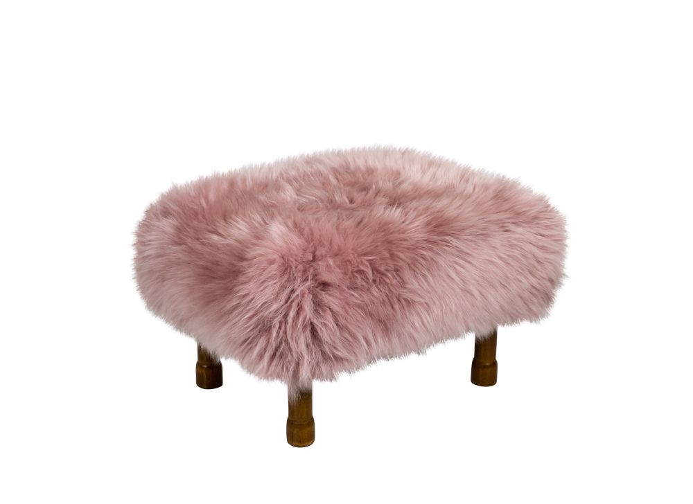 Delyth - Sheepskin Footstool  by Baa Stool