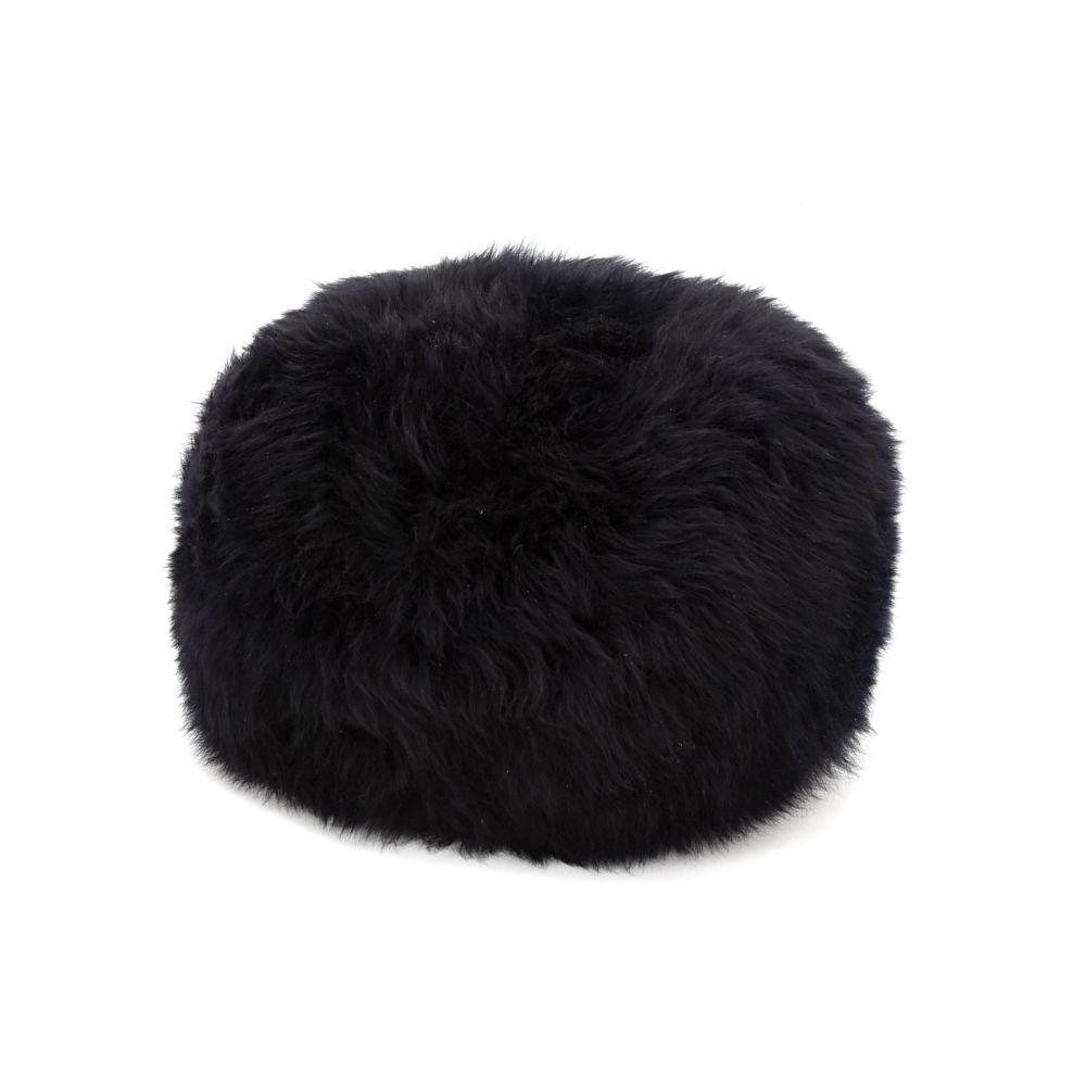 Aubergine,Baa Stool,Footstools,beanie,black,cap,clothing,fur,hat,headgear