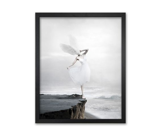 The white sky-XIX Canvas,Mineheart,Prints & Artwork,picture frame,wing