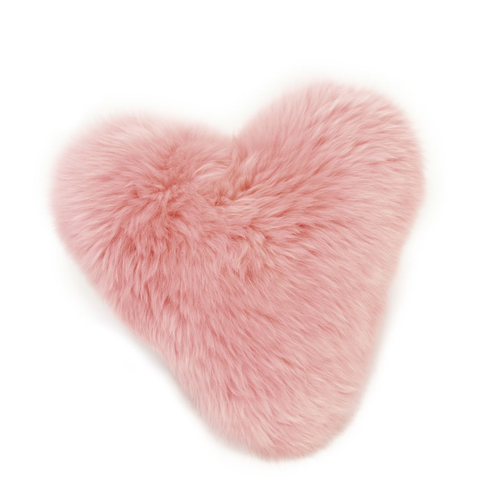 in Dusky Pink,Baa Stool,Cushions,ear,fur,heart,organ,pink