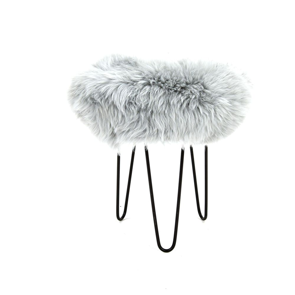 Teal,Baa Stool,Footstools,fur
