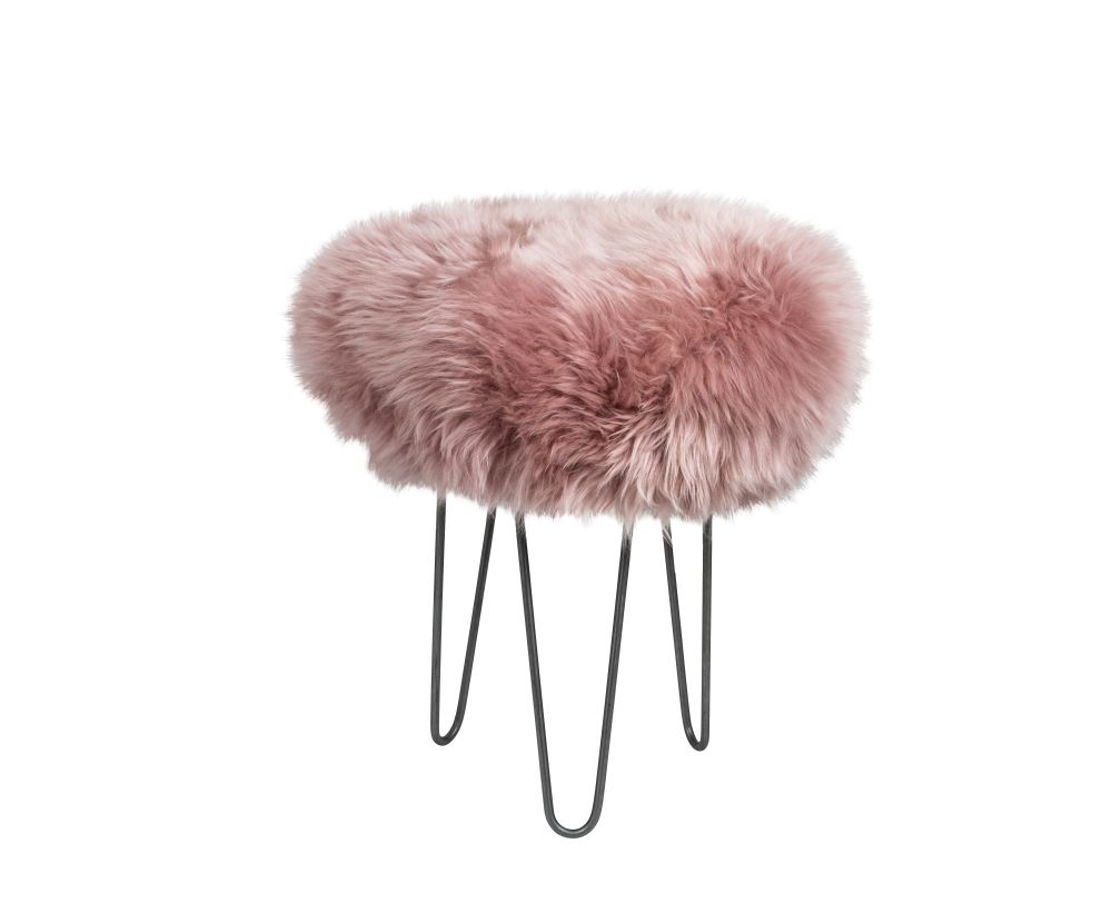 Aubergine,Baa Stool,Footstools,fur,furniture,pink,stool
