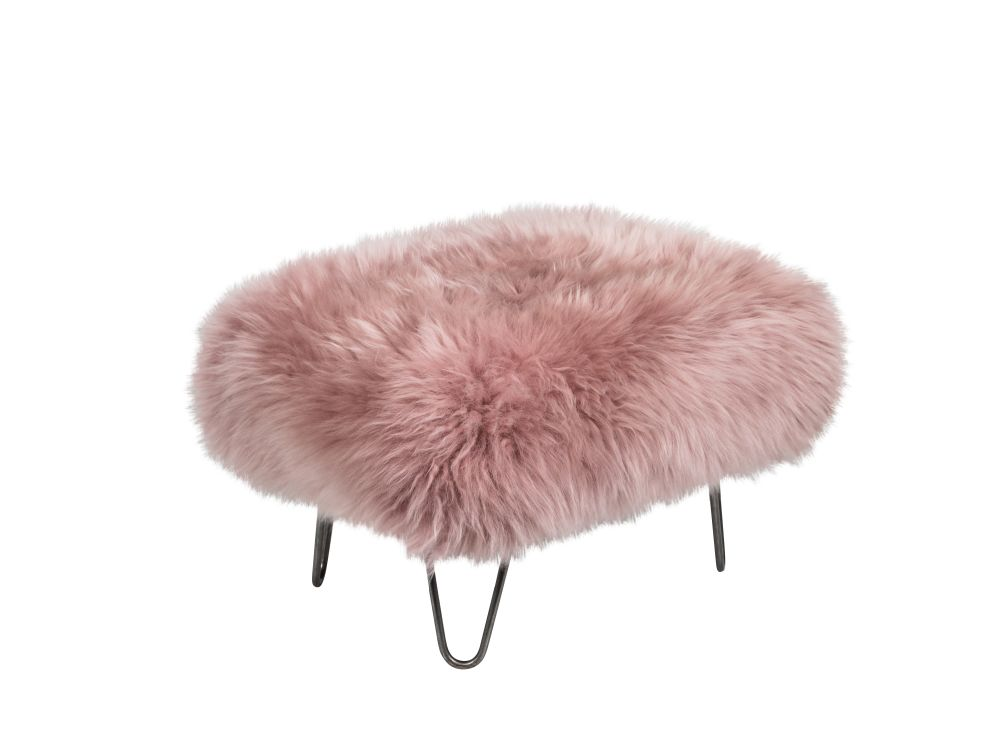 Slate Grey,Baa Stool,Footstools,fur,furniture,headgear,pink