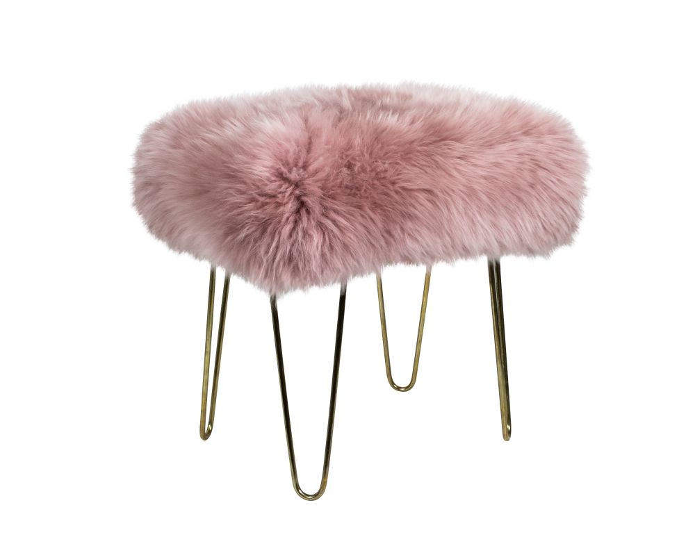 in Teal,Baa Stool,Footstools,fur,furniture,pink,stool