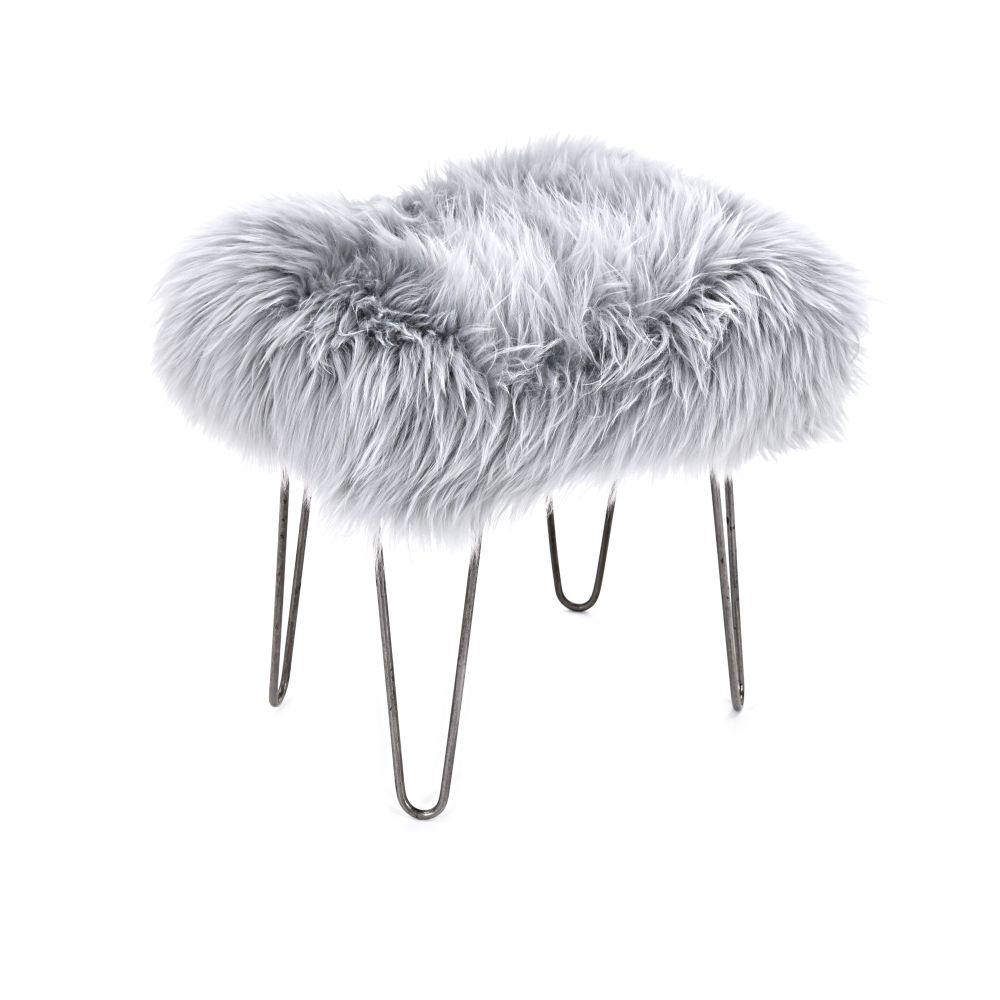 Aubergine,Baa Stool,Footstools,fur,furniture