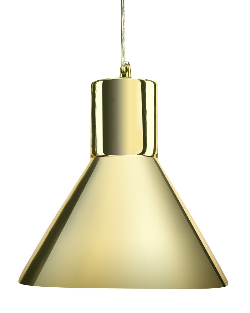 Grey Blue tint Funnel Pendant Lamp,Mineheart,Lighting,brass,ceiling,ceiling fixture,lamp,lampshade,light,light fixture,lighting,lighting accessory