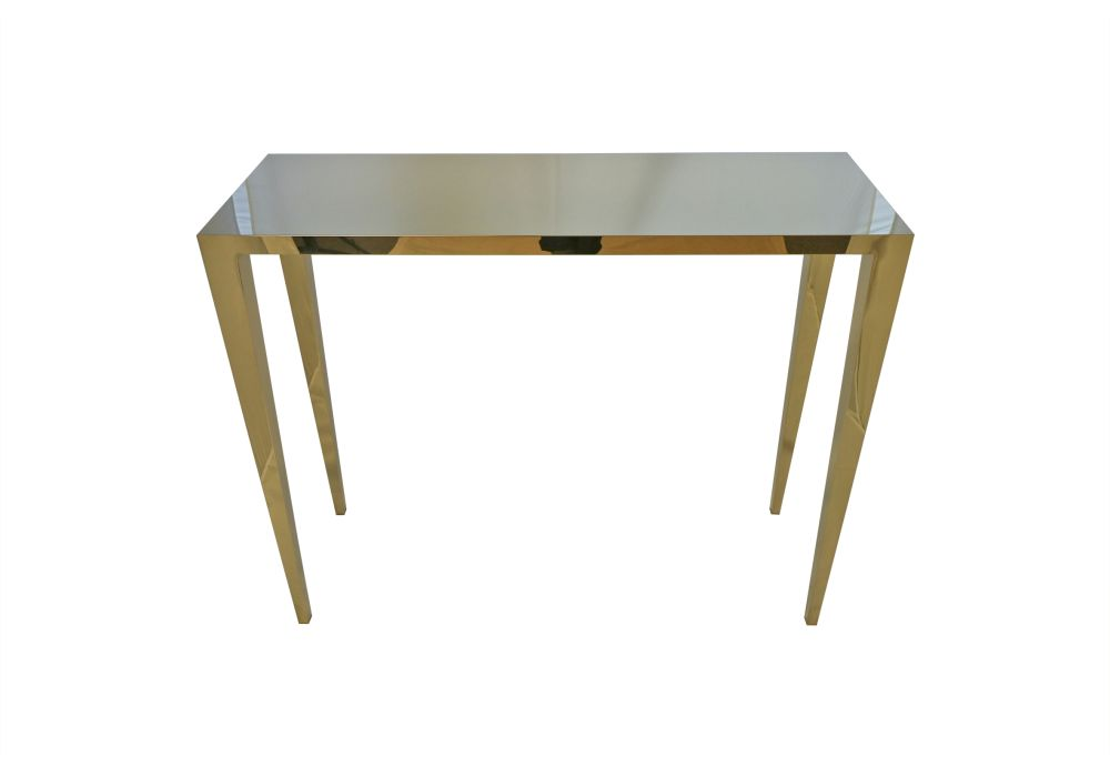Gold Console Table,Mineheart,Console Tables,desk,end table,furniture,outdoor table,plywood,rectangle,sofa tables,table,wood