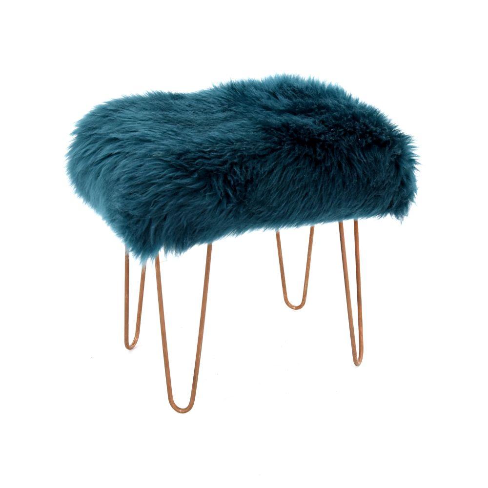Aubergine,Baa Stool,Footstools,bird,feather,flightless bird,fur,headgear,ostrich,turquoise