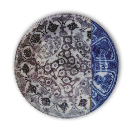 Kintsugi Plate 1,Mineheart,Bowls & Plates,circle,design,pattern