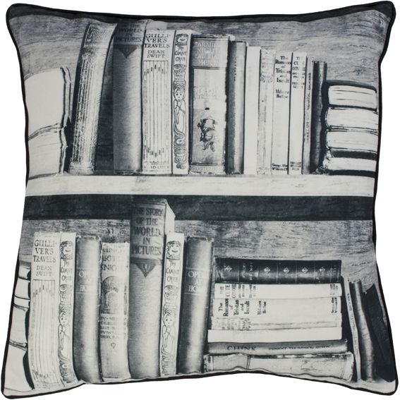 Photocopy Bookshelf Cushion,Mineheart,Cushions,cushion,design,furniture,pattern,pillow,textile,throw pillow