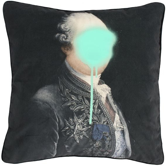 Monsieur Mint Cushion,Mineheart,Cushions,aqua,cushion,furniture,linens,pillow,teal,textile,throw pillow,turquoise