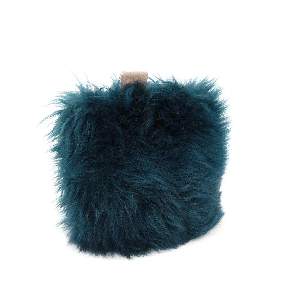 Aubergine,Baa Stool,Textiles,feather,footwear,fur,teal,turquoise