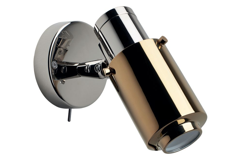 Polished Nickel Body, Gold Anodized Lens, With, With,DCW éditions,Wall Lights,muffler